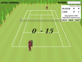 Bear Open Tennisのゲーム画像