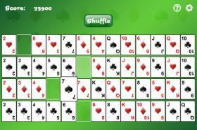 Gaps Solitaireのゲーム画像